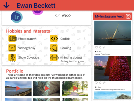 scrolled down view of the main interface